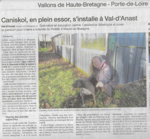 caniskol article ouest france janvier 2019