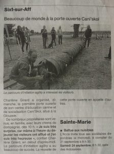 journée porte ouverte dans Ouest France caniskol