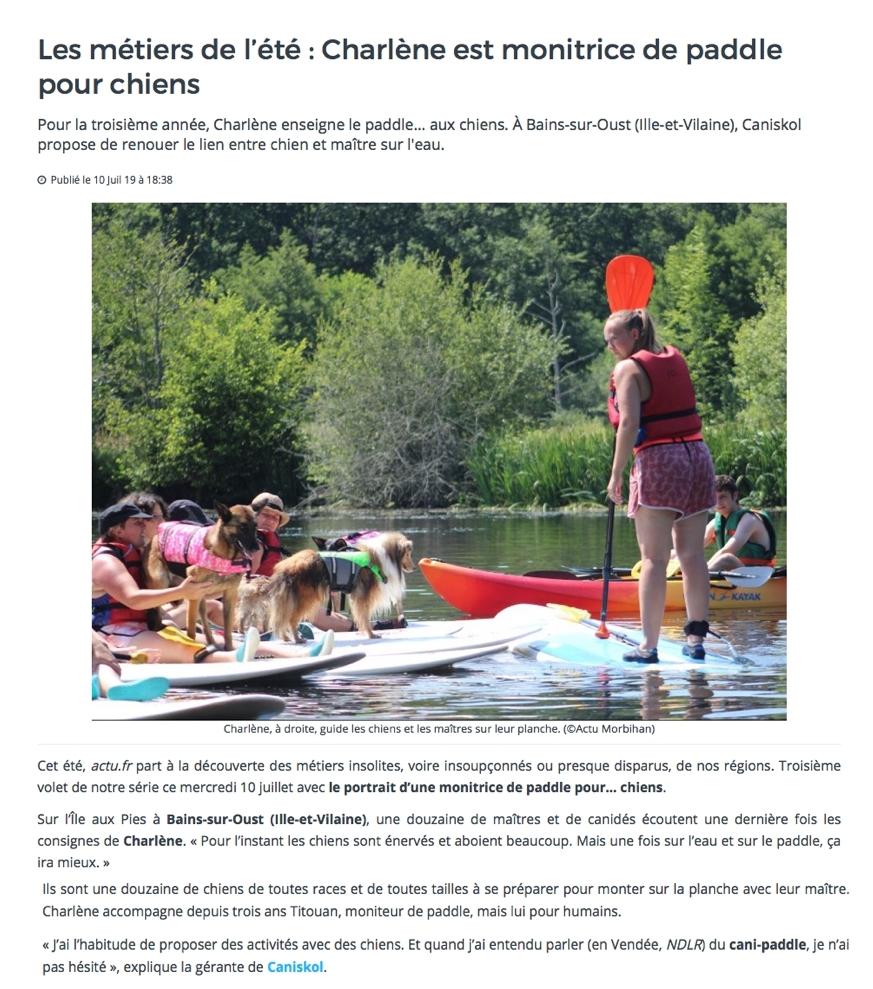 actu morbihan 1 caniskol cani-paddle